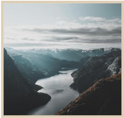 Norwegian landscape frame