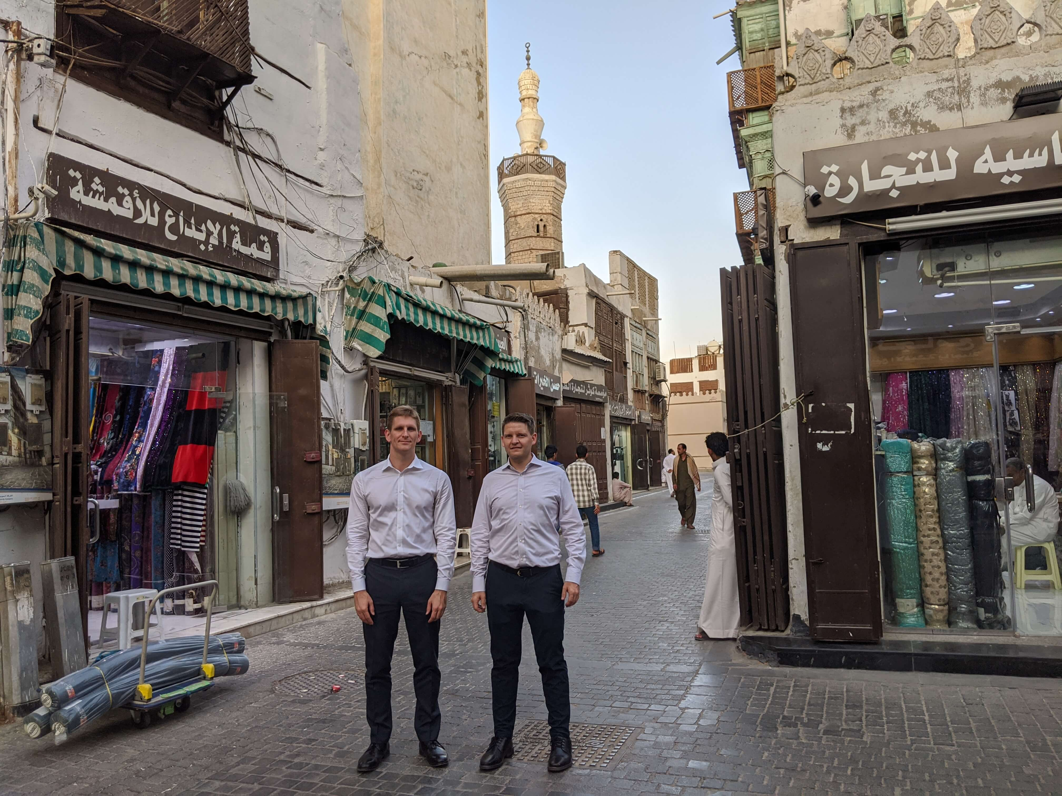 Evli Emerging Frontier fund investment team in Jeddah streets
